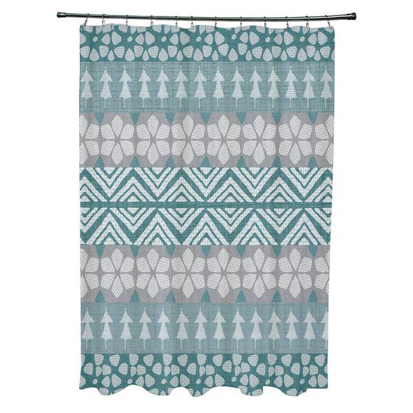 FairIsle Holiday Print Shower Curtain