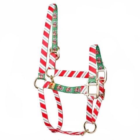 Red Haute Horse Peppermint Stick/Santa Claus Horse Halter