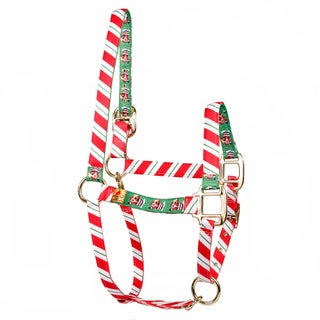 Red Haute Horse Peppermint Stick/Santa Claus Horse Halter (More options available)