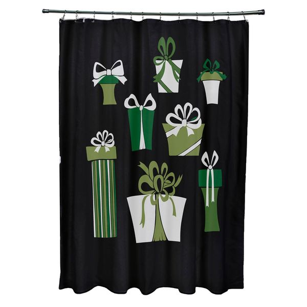 Present Time Holiday Print Shower Curtain