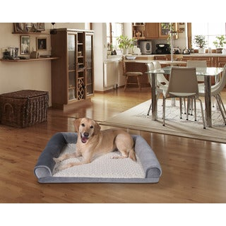 Three Sided Bolster Memory Foam Dog Bed