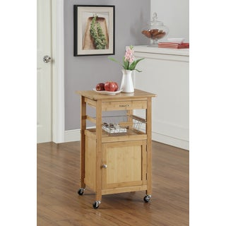Bamboo Kitchen Cart w. Baskets