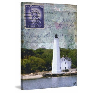 'Lighthouse IV' Painting Print on Wrapped Canvas