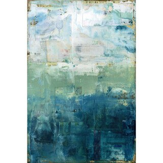 'Coastal' Painting Print on Wrapped Canvas - Green