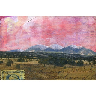 'Mountain Range IV' Painting Print on Wrapped Canvas