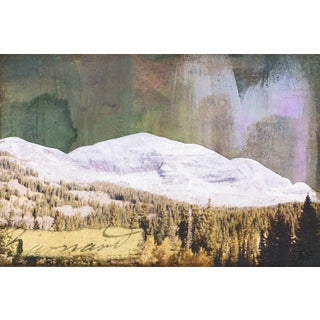 'Mountains V' Painting Print on Wrapped Canvas