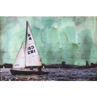 'Sailboat V' Painting Print on Wrapped Canvas