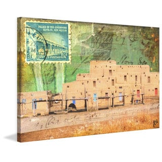 'Pueblo' Painting Print on Wrapped Canvas