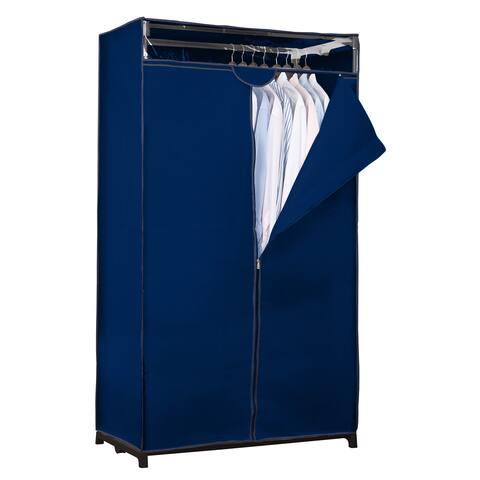 "Simplify Navy Fabric 36-inch Wide Portable Closet - 36"" x 19.7"" x 63"""