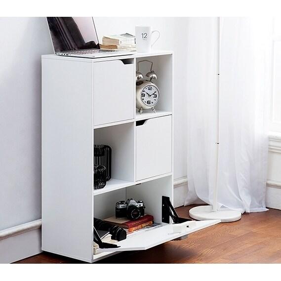 Yak About It Locking Safe Bookshelf (White)
