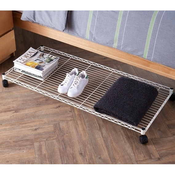 Shop Suprima Rolling Underbed Storage Shelf Free Shipping On