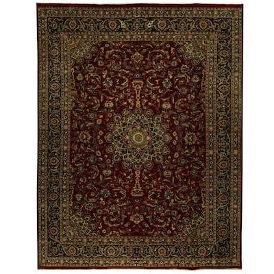 Handmade One-of-a-Kind Mashad Wool Rug (Iran) - 9'10 x 12'10