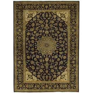 Herat Oriental Persian Hand-knotted Tribal Isfahan Wool Rug (9'9 x 13'6)