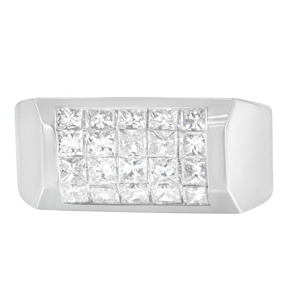 14k White Gold 2 ct TDW Princess Diamond Cluster Ring (G-H, VS1-VS2)