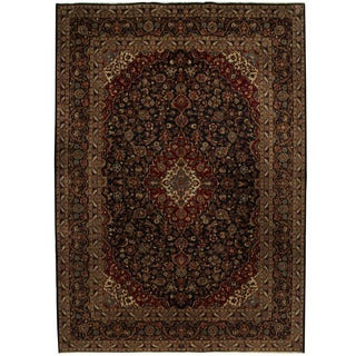 Herat Oriental Persian Hand-knotted Tribal Kashan Wool Rug (9'10 x 13'9)