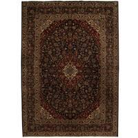 Handmade Herat Oriental Persian Tribal Kashan Wool Rug - 9'10 x 13'9 (Iran)