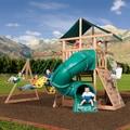 Backyard Discovery All Cedar Mountain Range Swing Set - brown/gree/Brown/Green
