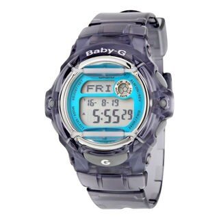 Casio Women's BG169R-8B 'Baby-G' Digital Grey Resin Watch