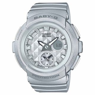 Casio Women's BGA195-8A 'Baby-G' Analog-Digital Grey Resin Watch