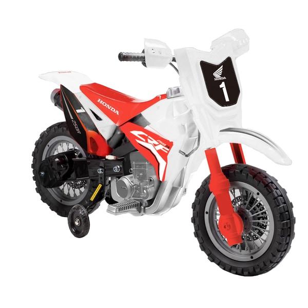 Best Ride On Cars White Honda CRF250R 6V Dirt Bike