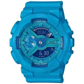 Casio Women's GMAS110VC-2A 'G-Shock' Analog-Digital Blue Resin Watch