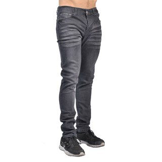 Indigo People Mens Slim Fit Denim Grey Jeans (Option: 34 Inch)