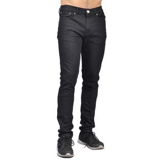 Indigo People Mens Slim Fit Denim Black Jeans - M (Option: 34 Inch)