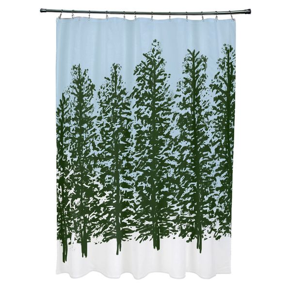 Hidden Forrest Holiday Print Shower Curtain