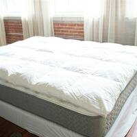 Byourbed Baffle Box Down Featherbed - White