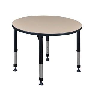 "Kee 42"" Round Height Adjustable Classroom Table"