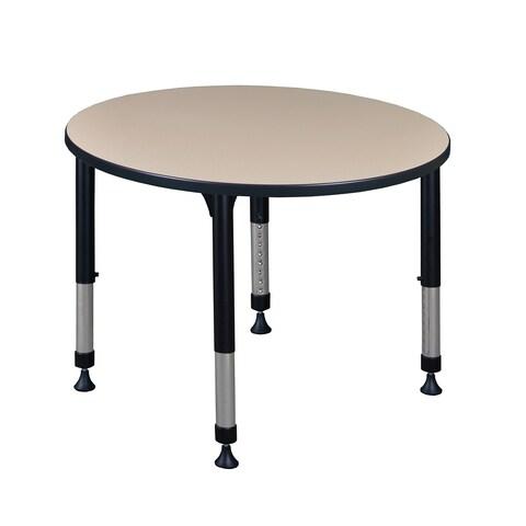 "Kee 36"" Round Height Adjustable Classroom Table"