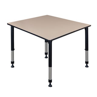 """Kee 48"""" Square Height Adjustable Classroom Table"""