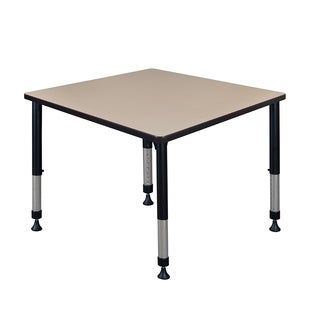 """Kee 42"""" Square Height Adjustable Classroom Table"""