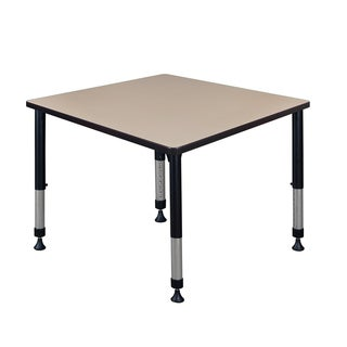 """Kee 36"""" Square Height Adjustable Classroom Table"""