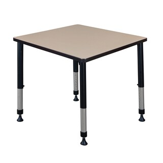 """Kee 30"""" Square Height Adjustable Classroom Table"""