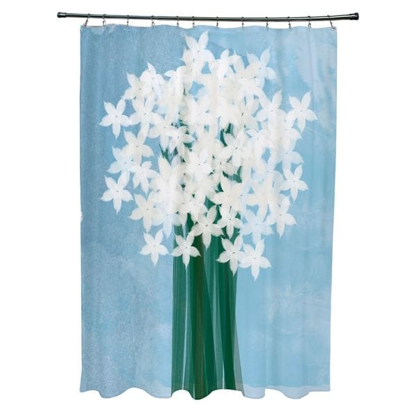 Paperwhites Floral Print Shower Curtain