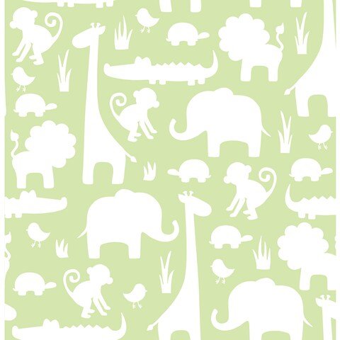 Green It's A Jungle In Here Peel & Stick Wallpaper