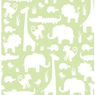 Green It's A Jungle In Here Peel & Stick Wallpaper