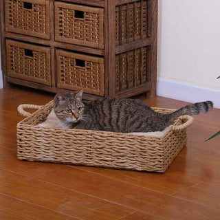 PetPals Seagrass Box Pet Bed