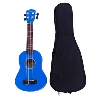 "Glarry UK101 21"" Pure Color Rosewood Fingerboard Basswood Soprano Ukulele with Bag Blue"