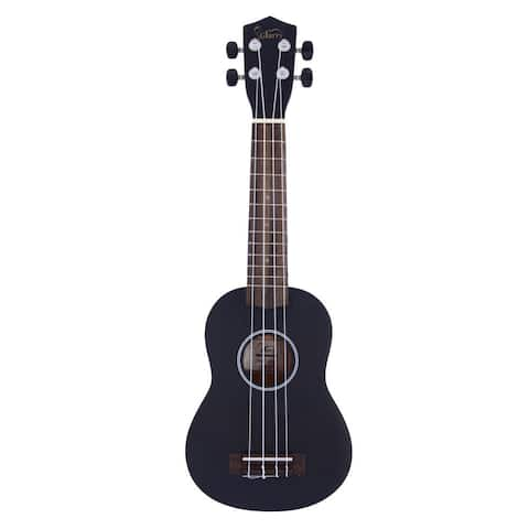 "Glarry UK101 21"" Pure Color Rosewood Fingerboard Basswood Soprano Ukulele with Bag Black"