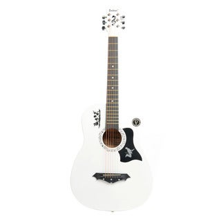 DK-38C Basswood Guitar, Bag, Straps, Picks, LCD Tuner, Pickguard, String Set White