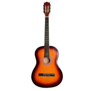 """38"""" Professional Acoustic Classic Guitar, Pick, Strings Sunset Color