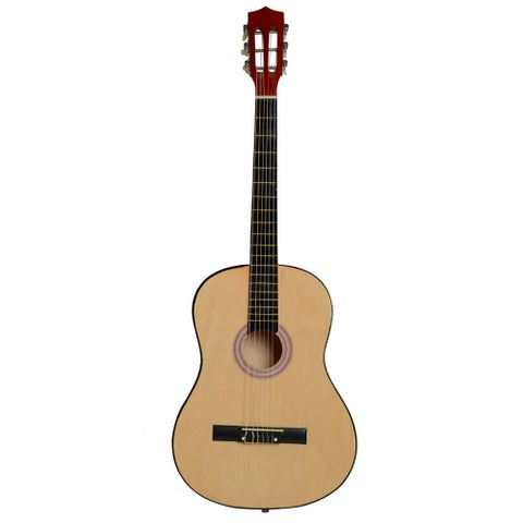 """38"""" Professional Acoustic Classic Guitar, Pick, Strings Wood Color"""