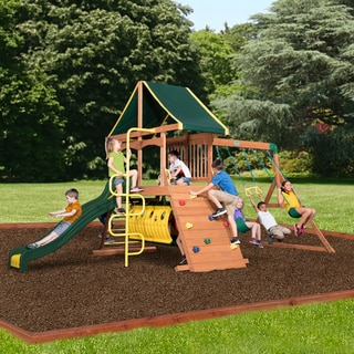 Backyard Discovery Rockinu0027 Adventure All Cedar Swing Set