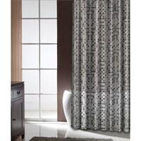 Famous Home Tiles Black Shower Curtain