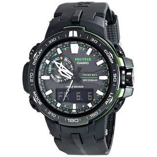 Casio Men's PRW6000Y-1A 'G-Shock Pro Trek' Analog-Digital Black Resin Watch|https://ak1.ostkcdn.com/images/products/16404159/P22753158.jpg?impolicy=medium