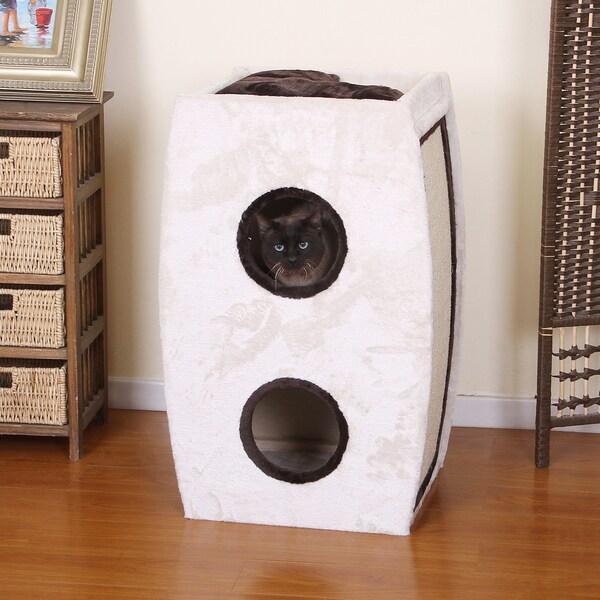 PetPals Luna Two Level Cat Condo