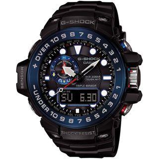 Casio Men's GWN1000B-1B 'G-Shock' Analog-Digital Black Resin Watch