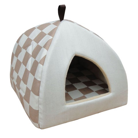 PetPals Beige Cat Cabana Bed